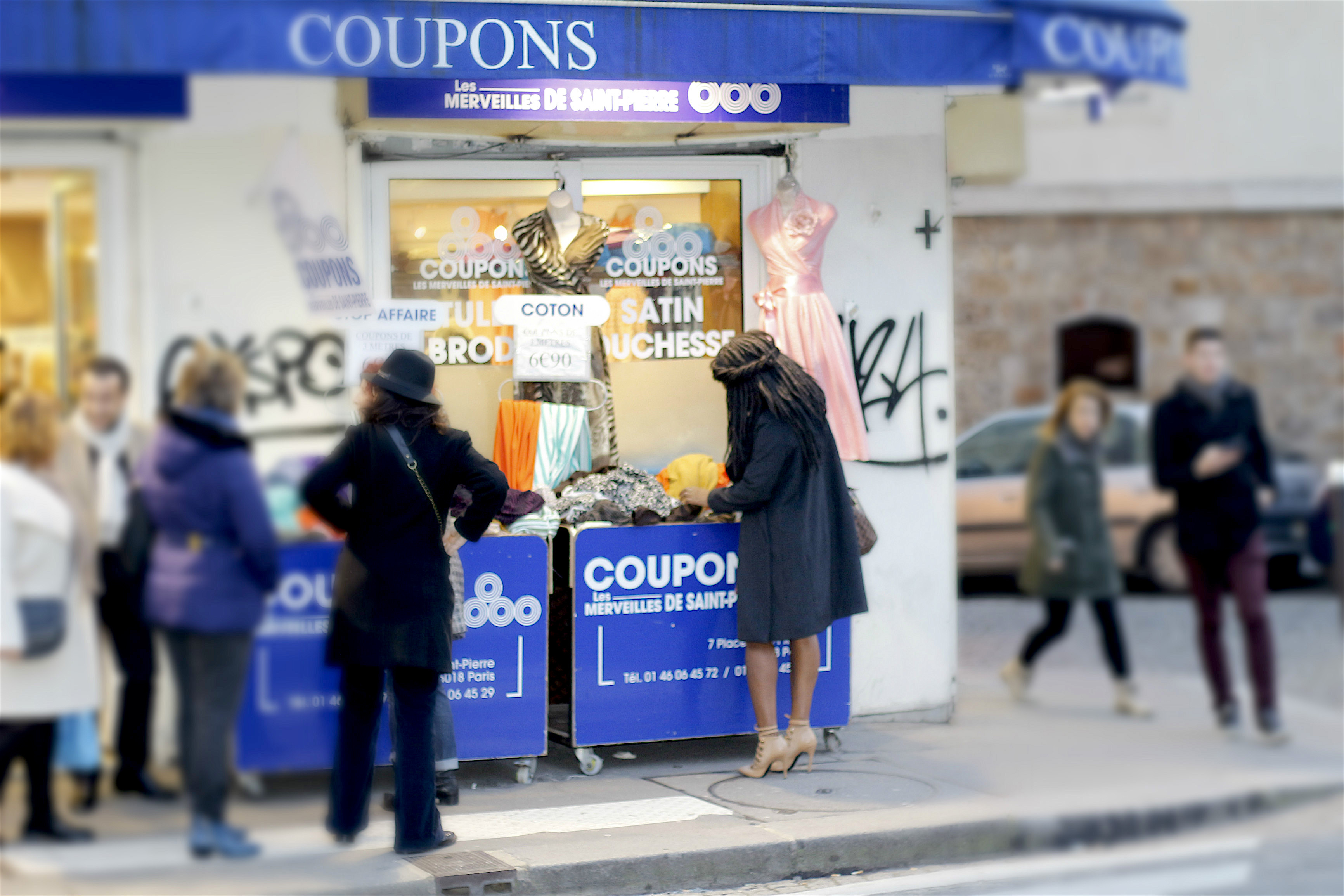 Coupons tissus montmartre